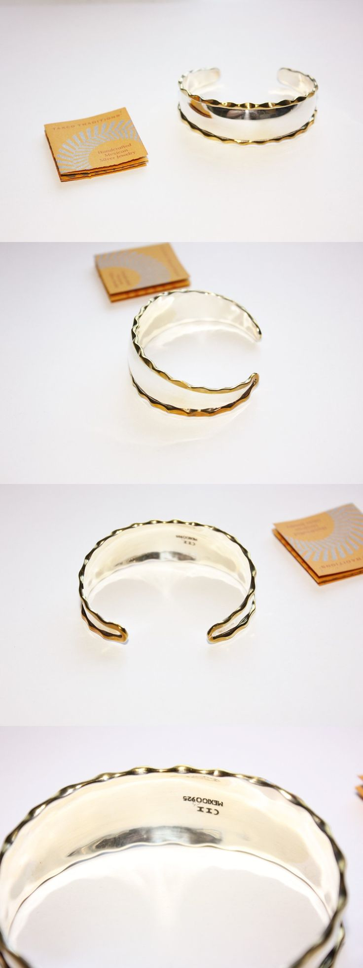 Bracelets 98489: Bnwot Qvc Artisan Crafted Taxco Sterling Silver W Brass Cuff Bracelet! -> BUY IT NOW ONLY: $44.95 on eBay!