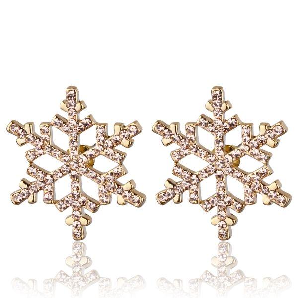 Taş İşçilikli Büyük Boy Kar Tanesi Küpe #küpe #kartanesi #modern #kadın #aksesuar #takı #şık #trend #earring #stylish #snazzy #snowflake #elegant #accessory #jewelry