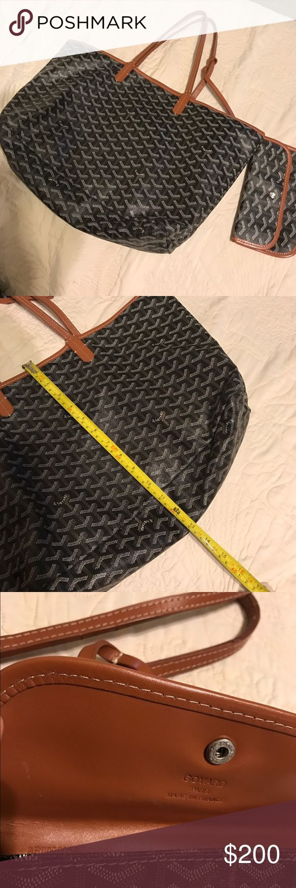 Goyard Bag and pouch Good condition, it was a gift from my ex😏 authenticity unknown because i didn't purchase it  myself Goyard Bags
