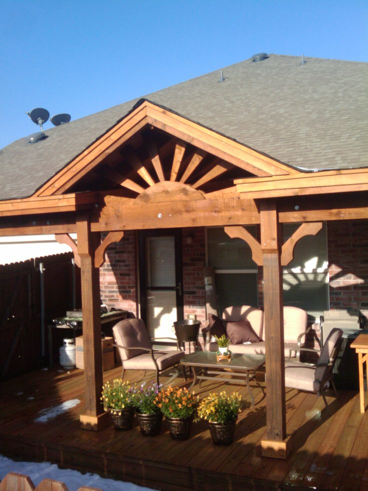 Gable Roof Ranch Style Patio Covers Are Custom Built To