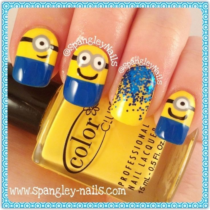 Nailpolis Museum of Nail Art | Minion Nail Art by Nicole
