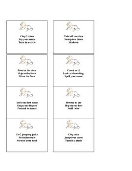 Listening Lions Game: K-5 classroom game for listening and following directions