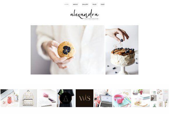 Alexandra - Wordpress Minimal Theme by Wildheart Creative on @creativemarket