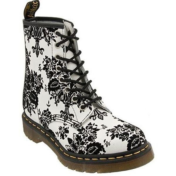 Black Floral Boots for Women ❤ liked on Polyvore featuring shoes, boots, flower print boots, kohl boots, floral-print boots, floral print shoes and floral pattern shoes