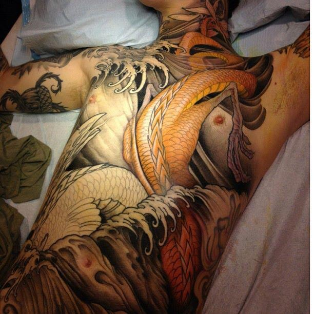 Still in progres, but already sick tattoo by Jeff Gogue. #tattoo #tattoos #Ink