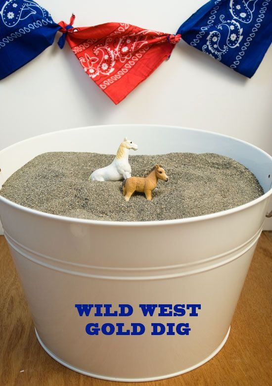 Wild West Party gold dig on onecharmingparty.com #cowboyparty #wildwestparty #westernparty