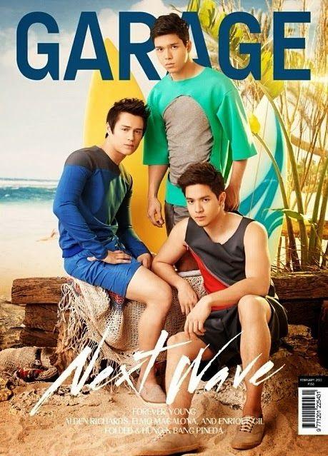Alden Richards, Enrique Gil and Elmo Magalona for Garage February 2011 Issue