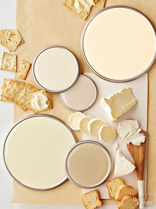 Whites with golden undertones, like these yummy shades, are a step above basic white and offer a cozy vibe to boot.