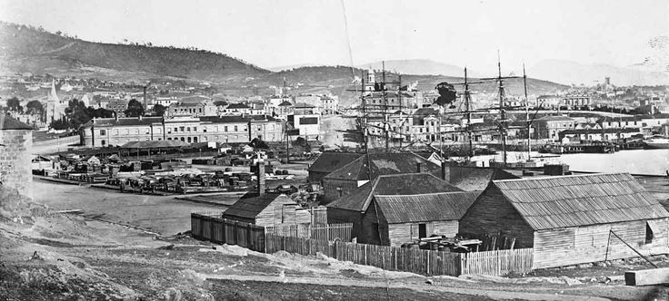 Hobart Town in Tasmania (year unknown). Tasmania Archives and Heritage Office.