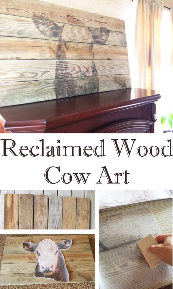 DIY Home Sweet Home: sloophout Kunst van de koe