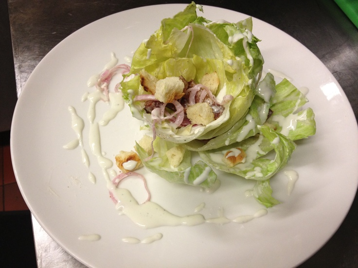 baby iceberg salad, blue cheese dressing, pickled red onions, bacon ...