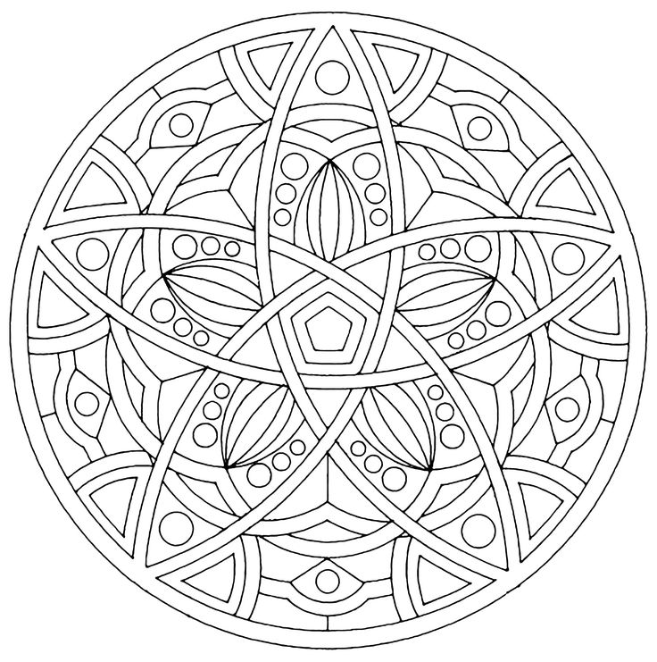 41+ Complex mandala coloring pages printable ideas