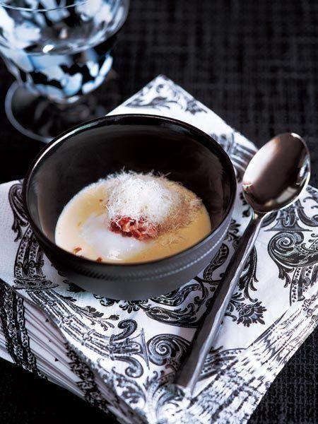 Recipe : クロックマダムのスープ/卵やチーズの、濃厚で豊かな味わいを楽しむスープ。 #Recipe #レシピ