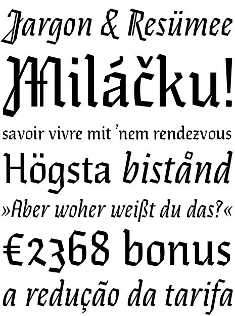 Eskapade Fraktur by Alisa Nowak (Type Together) 04.2012