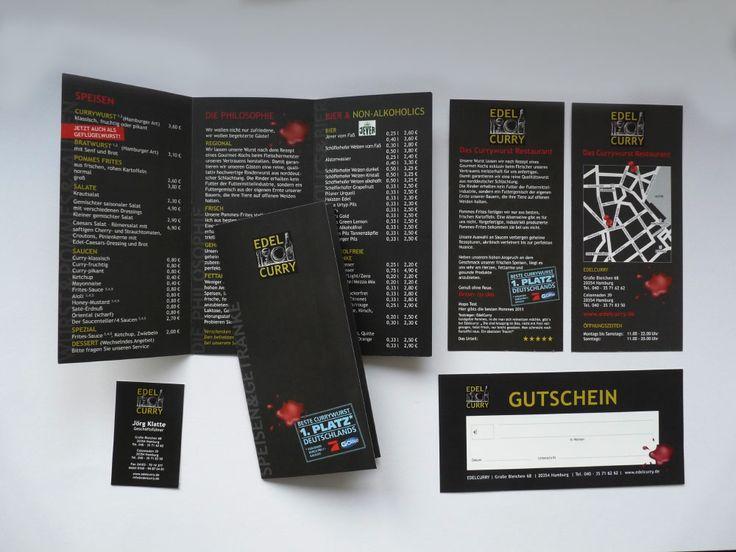 Speisekarten//Gutscheine//Visitenkarten//Flyer für ein Restaurant
