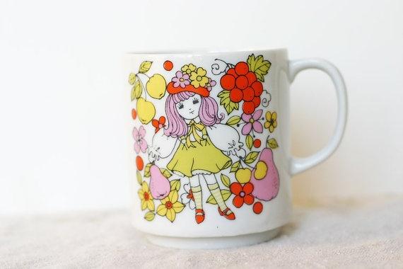 Vintage Mug - Flower Child