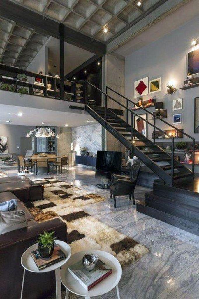 25 Modern Loft Design Ideas You Need To Know Godiygo Com In 2020 Loft Apartment Decorating Loft Apartment Designs Apartment Design