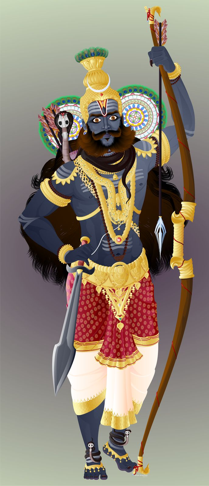 Kala Ksetram — Kirata Mooorthy, Shiva as a hunter