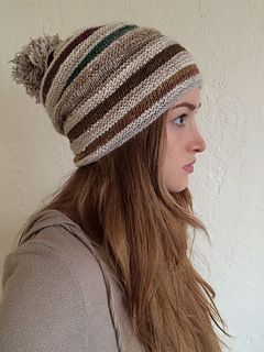 Slouchy ribbed beanie. I used one skein each of Noro Flower Bed and Rowan Fine Tweed, but you can use any fingering weight yarn and colors you like!