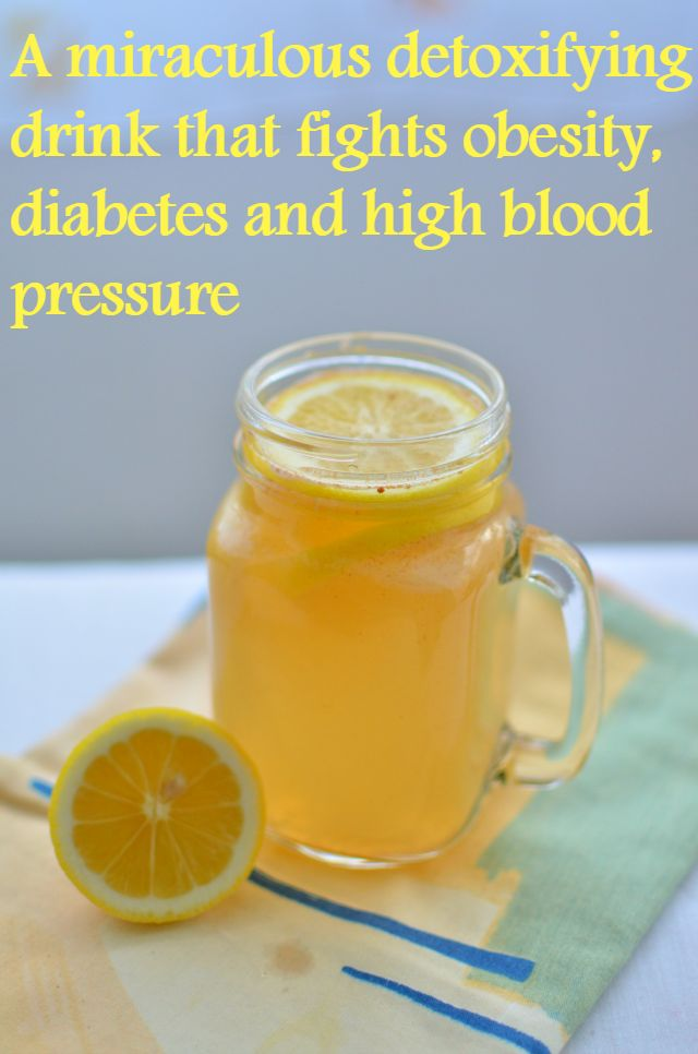 A miraculous detoxifying drink that fights obesity, diabetes and high blood pressure