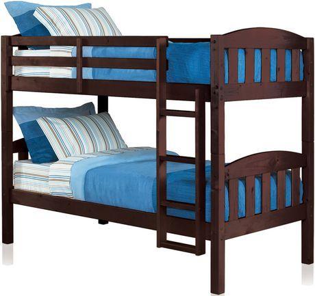 Twin/Twin Bunk bed Walmart.ca Twin bunk beds, Buy bunk