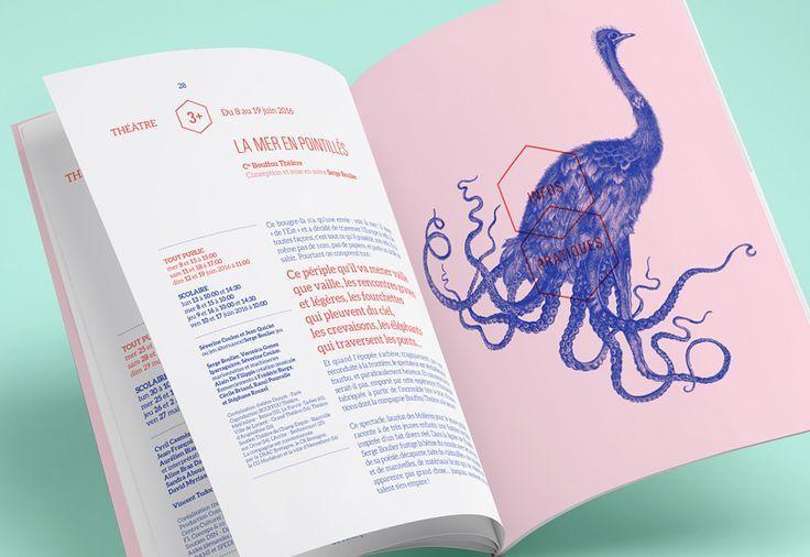 Les produits de l'épicierie, design graphique, Théâtre Dunois, Théâtre jeune…