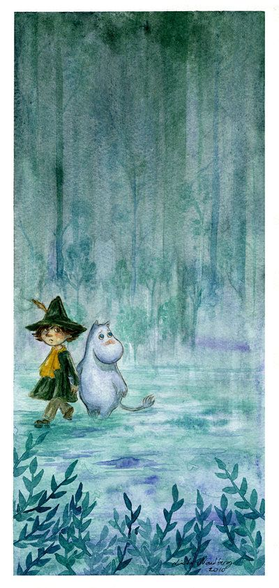 Snufkin and Moomintroll. By Aurasama