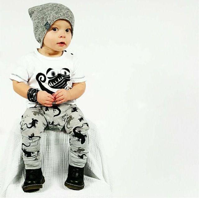 SY154 2016 Новое лето ребенок мальчик одежда хлопок детская одежда мода с коротким рукавом футболки + брюки 2 шт. новорожденной девочки одежда набор