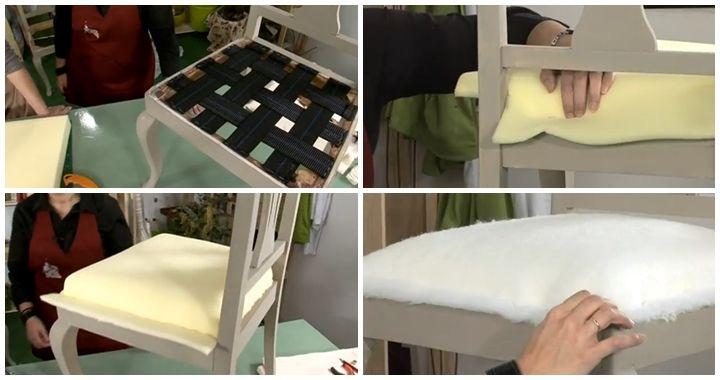C mo tapizar una silla brico pinterest tapizado for Sillas para viejitos