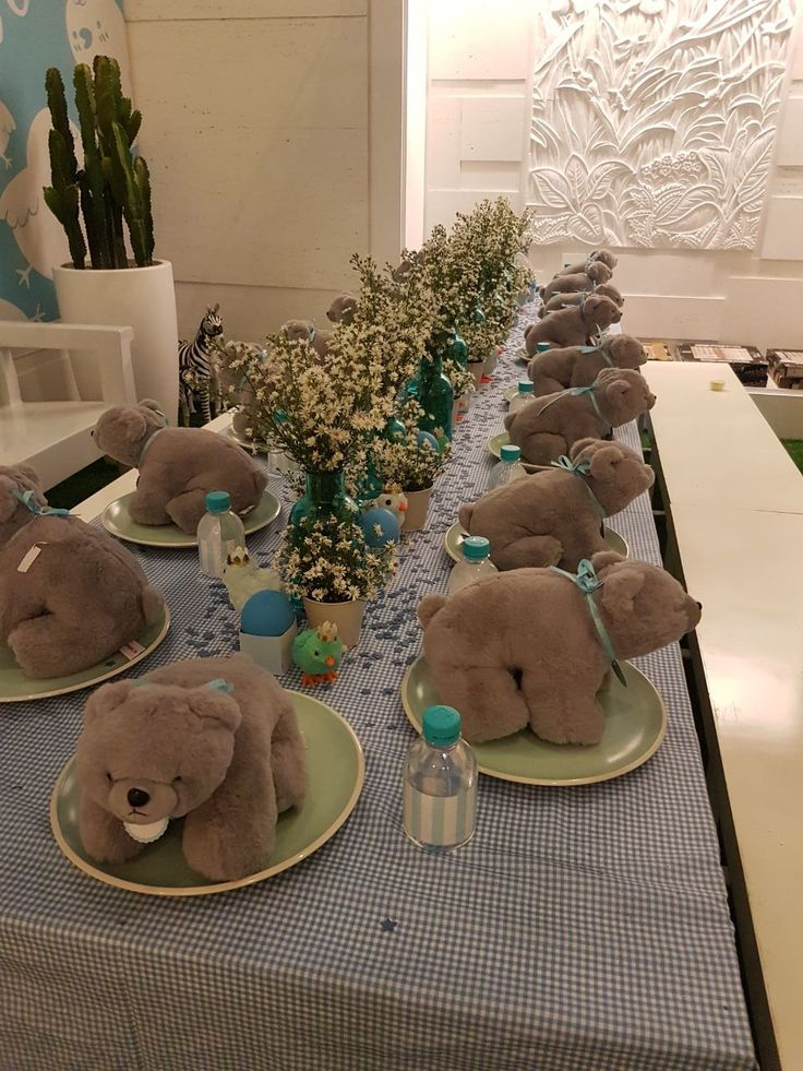 Long Table Preparation for Baby Shower