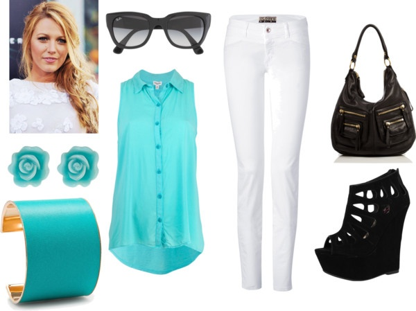 """blue"" by nicole-beal on Polyvore"