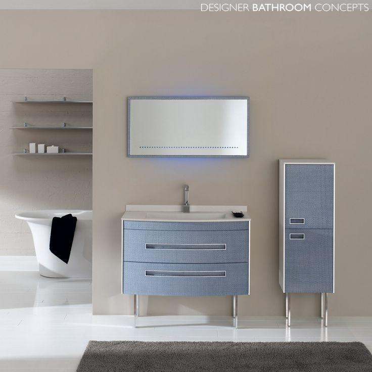 bathroom cabinet online design tool%0A Fiora Colors Designer Curved Freestanding Bathroom Furniture
