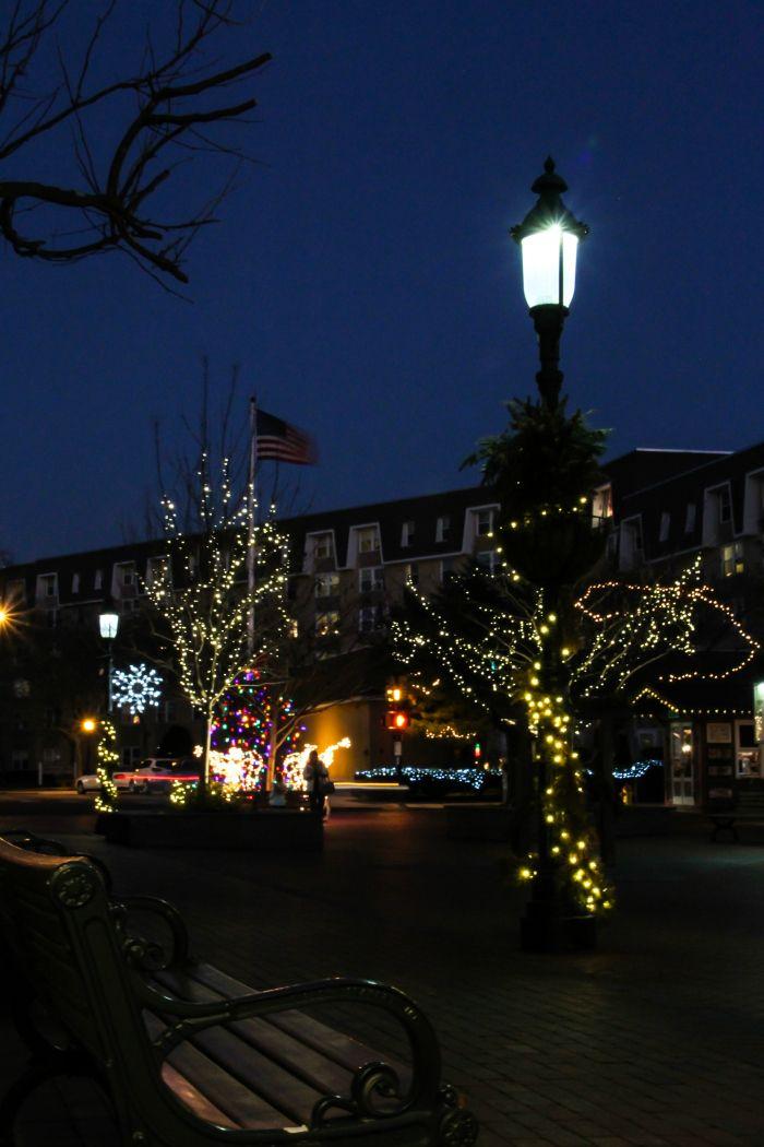 Washington Street Mall during the holidays
