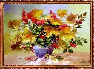 Осенний букет - Цветы <- Картины маслом <- Картины - Каталог | Универсальный интернет-магазин подарков и сувениров: