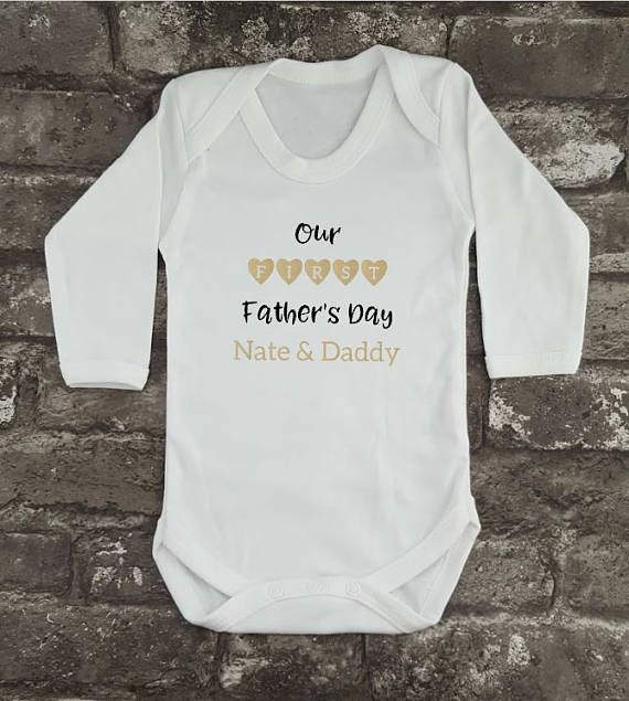 Personalised Hipster Bodysuit First Father's Day