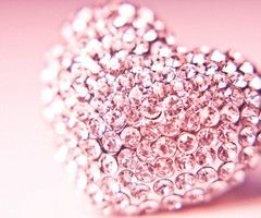 ♥Things Pink, Pink Sparkle, Diamonds Heart, Pink Hearts, Pink Bling, Pinkheart, Pretty, Pink Diamonds, Bling Bling