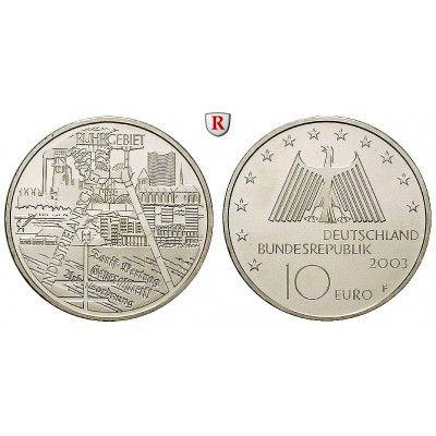 Bundesrepublik Deutschland, 10 Euro 2003, Industrielandschaft Ruhrgebiet, F, bfr., J. 501: 10 Euro 2003 F. Industrielandschaft… #coins