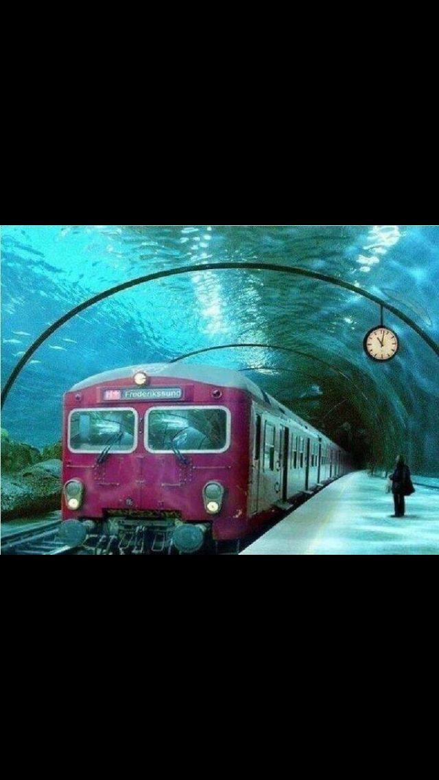 Underwater train stati...