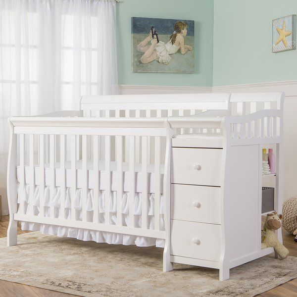 The Dream On Me Brody 5 In 1 Convertible Crib And Changer Combo Is A Multipurpose With Attached 3 Drawer Changing Table