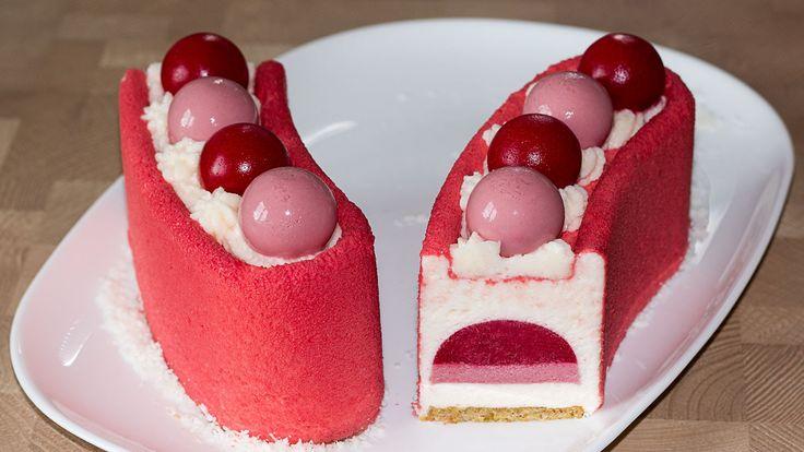 Муссовый малиновый торт (форма Звезда Арены)    Mousse Raspberry Cake (K...