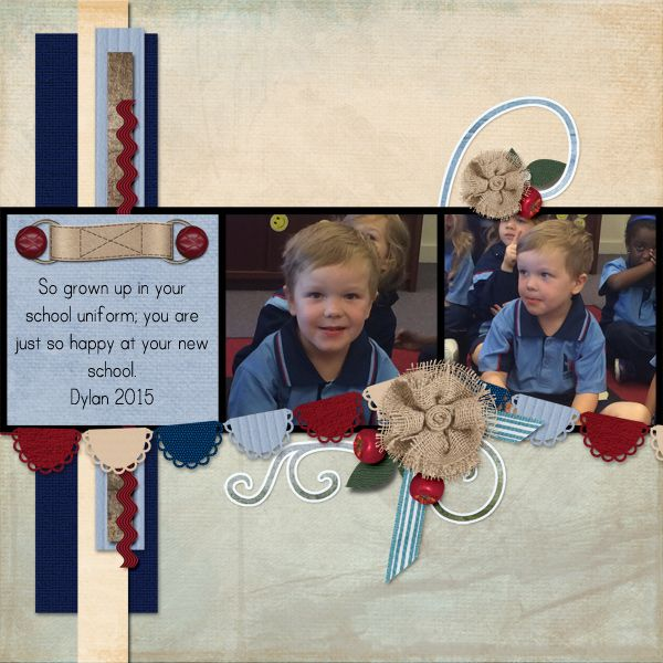 First Day at a new school. Created with Templates 15 By Polka Dot Chicks http://www.pixelsandartdesign.com/store/index.php?main_page=product_info&cPath=128_129&products_id=623 and Sail Away & Harvest Home Kits by Nutkin Tailz Designs