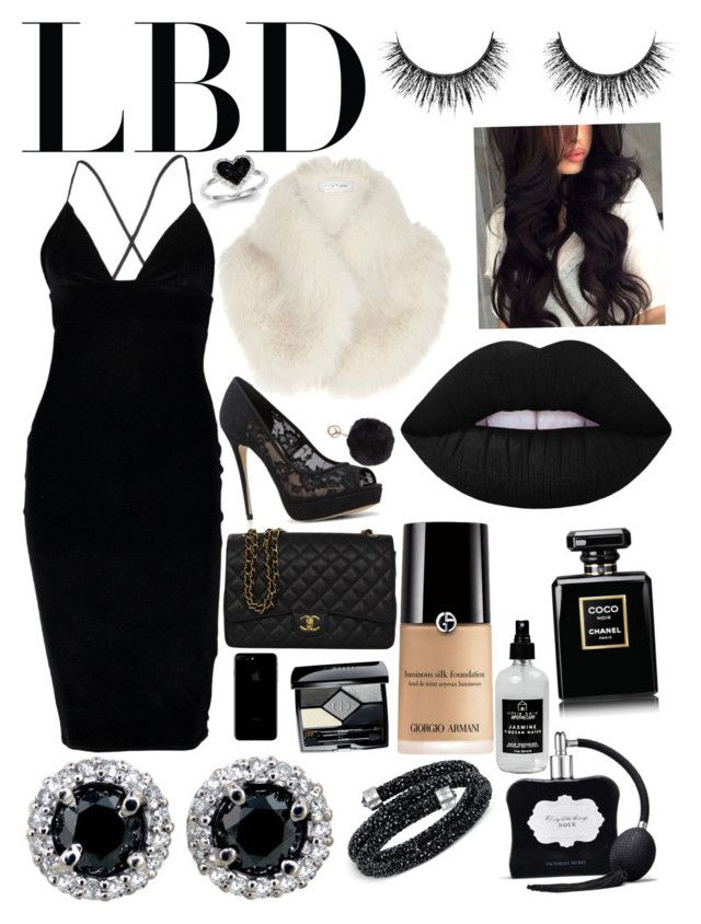 """""""Lovely Little Black Dress 👗"""" by lilyalicewalker ❤ liked on Polyvore featuring Boohoo, River Island, ALDO, Chanel, Humble Chic, Swarovski, Kevin Jewelers, Christian Dior, Victoria's Secret and Little Barn Apothecary"""