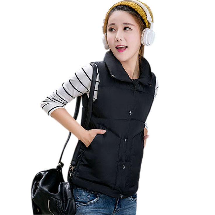 2016 New women Autumn/witner vest outerwear coat vests colete feminino winter women casual Solid jacket vest aliexpress.com