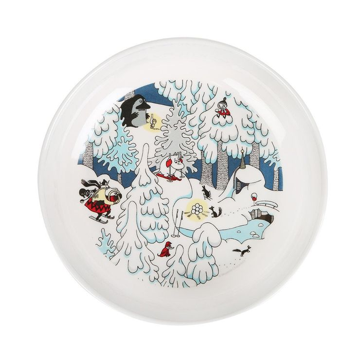 Beautiful Winter themed plastic bowlfeaturing beloved Moomin characters. Size 17 x 4 cmKaunis Muumi Talvimaa syvä lautanenlapsille, jossa nähdään rakastettuja Muumi-hahmoja.Koko: 17 x 4 cmVacker Mumin djup tallrikav plast perfekt för barn med vintrigt tema. Storlek:17 x 4 cm