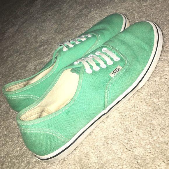 Tiffany blue/ mint green Vans Tiffany Blue/ mint green Vans slightly worn Vans Shoes Sneakers