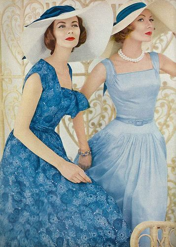 December Vogue 1956: Summer Dresses, Full Skirts, Vogue 1956, Fashion Style, Vintage Fashion, Classic Dresses, Timeless Style, 1950, Teas Dresses