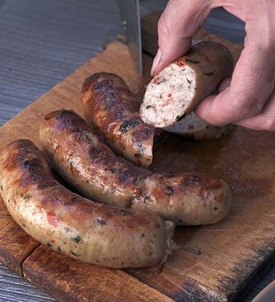 Chicken Sausage with Basil Tomato and Garlic