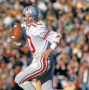The only four-year starter at the position, Art Schlichter currently owns the school record for passing yards (7,547), total yards (8,850) and total touchdowns (85).  Schlichter's 951 attempts are also the most thrown by an Ohio State quarterback, his 497 completed passes is second all-time and his 50 touchdowns ranks fourth.  The former All-American ran the option offense to perfection as he mustered 1,303 career yards and 35 touchdowns on the ground.