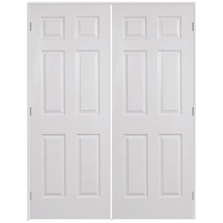 Textured Hollow Core Primed White Composite French Single Prehung Interior    The Home Depot