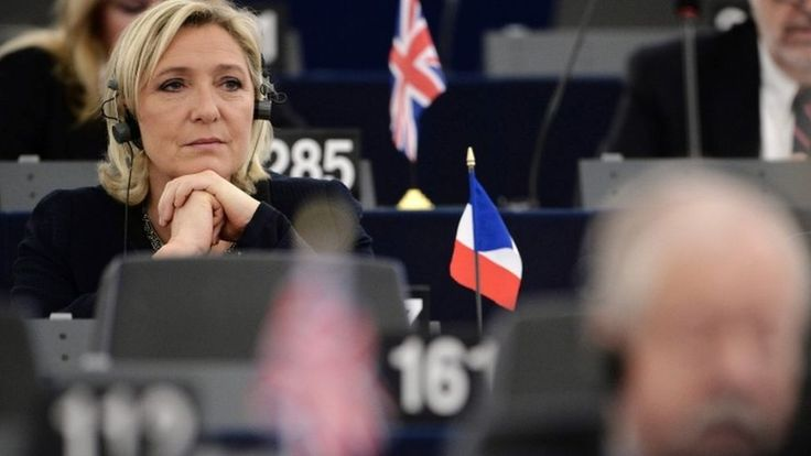 France's far-right leader faces allegations European parliament cash was wrongly paid to party staff.